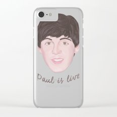 Paul is live Clear iPhone Case