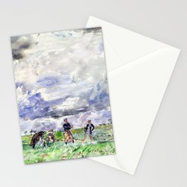 Thomas Hennell - Figures working in a field - Digital Remastered Edition Stationery Cards