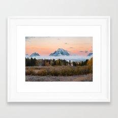 Autumn Sunrise in the Tetons Framed Art Print