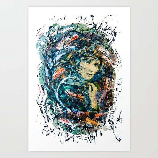 the woman's face #2 Art Print