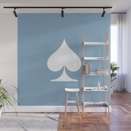 spade sign on placid blue background Wall Mural