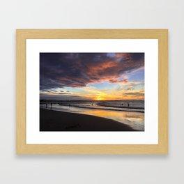 sunset over rainbow bay Framed Art Print