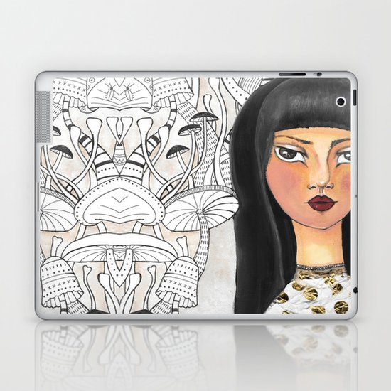 The girl with the red lips Laptop & iPad Skin