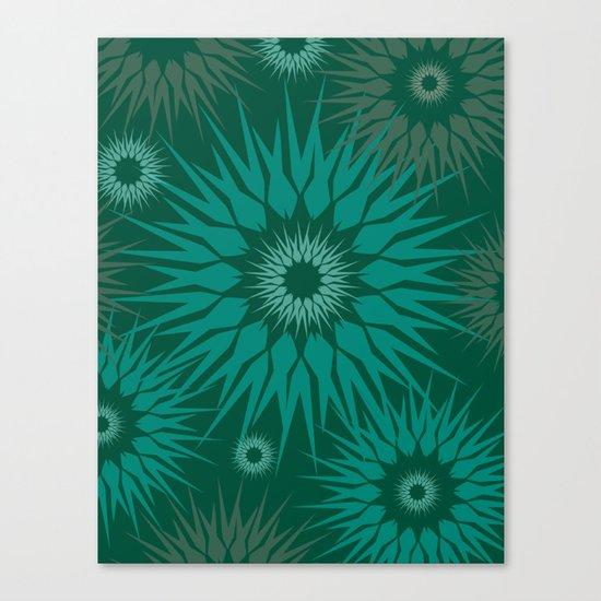 Dark Spiky Burst Canvas Print