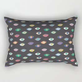 Eyez (Black) Rectangular Pillow