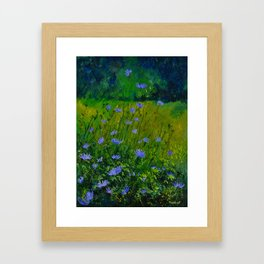 Blue chicorees  Framed Art Print