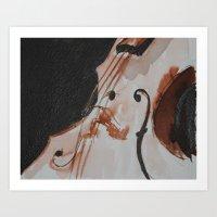 violin Art Prints featuring violin by Anja Kidrič AdAk