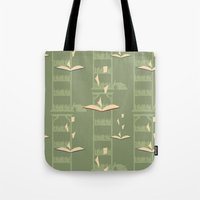 library Tote Bags featuring Library by S. Vaeth