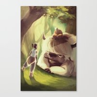 appa Canvas Prints featuring Spirit World by Attyca