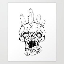 Crystal Crowned Art Print