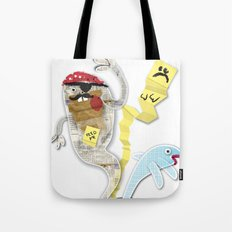 Recycled Paper Monsters Tote Bag