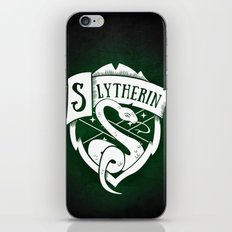 White Slytherin Crest iPhone & iPod Skin