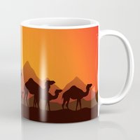 camel Mugs featuring Camel by aleksander1