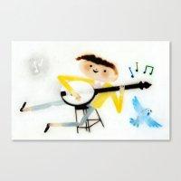 banjo Canvas Prints featuring Banjo by Emilie Leduc