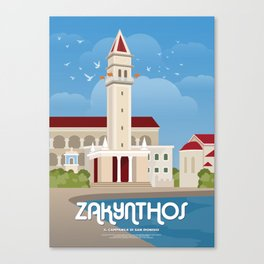 Zakynthos, The bell tower of St. Dionysios (GR) Canvas Print