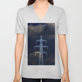 energy pylon Unisex V-Neck