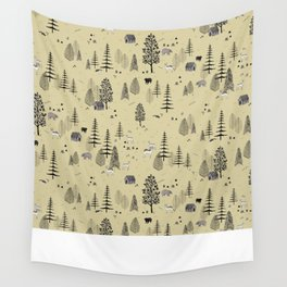 Forrest Pattern Wall Tapestry