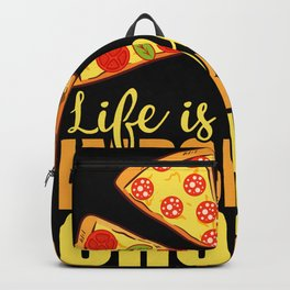 Life Full Important Choices Pepperoni Backpack