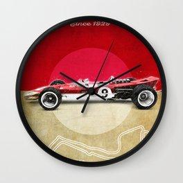 Monaco Racetrack Vintage Wall Clock