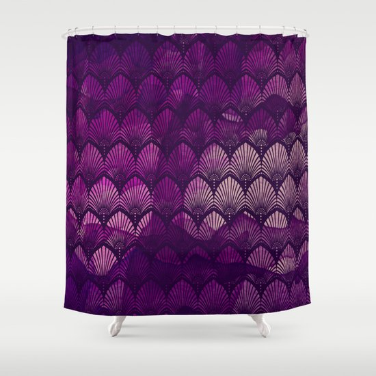 Variations on a Feather II - Purple Haze  Shower Curtain