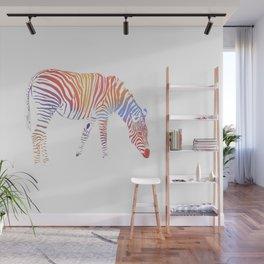 I met rainbow zebra in my dream Wall Mural
