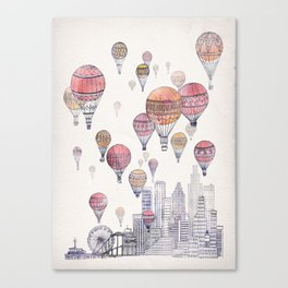 Voyages Over Santa Monica Canvas Print