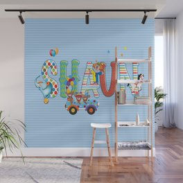 Shaun / Personalised Children's  Name Wall Mural