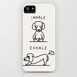 Inhale Exhale Dachshund iPhone Case