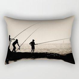 Three Fishermen Rectangular Pillow