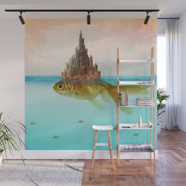 Goldfish Castle Island Wall Mural