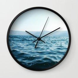 Volcano Lake Wall Clock