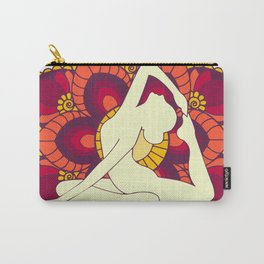 Women doing yoga mandala Carry-All Pouch