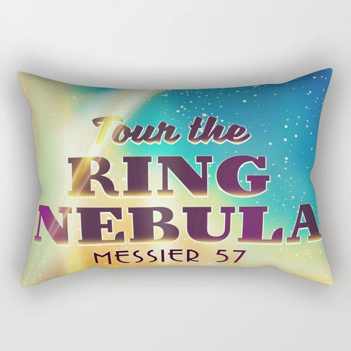 Tour the ring nebular sci-fi poster Rectangular Pillow