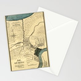 Map Of New Orleans 1798 Stationery Cards