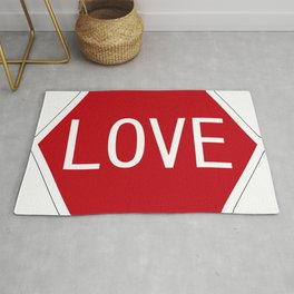 Love stop signal Rug