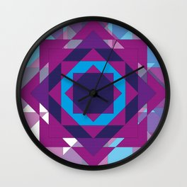 Old Quilt Print Wall Clock