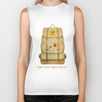 backpack Biker Tanks featuring PACK AND GO by Je Suis un Lapin