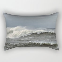Big waves on the Back shore Rectangular Pillow