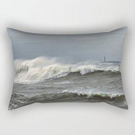 Big waves on the Back shore Rectangular Pillow