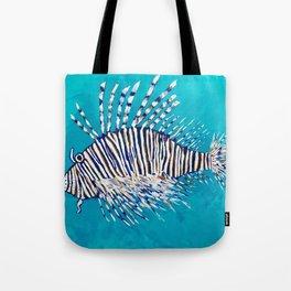 Lion Fish 3, a pretty predator & invasive species Tote Bag