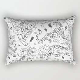 Tigers & Flowers Rectangular Pillow