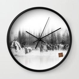 chevaux rivière Wall Clock