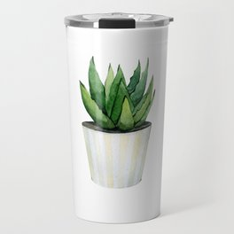 Aloe Vera plant in a pot. Travel Mug