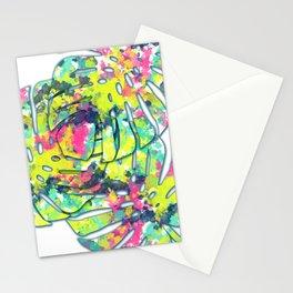 Splatter Monsteras #society6 Stationery Cards