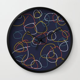 Crooked Circles #2 Wall Clock