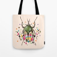 insect Tote Bags featuring Insect VII by dogooder
