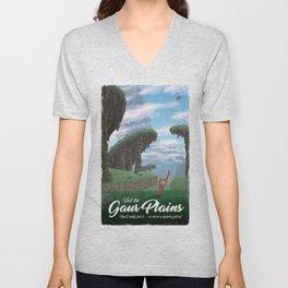 Gaur Plains Travel Poster Unisex V-Neck
