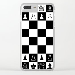 Chess Board Clear iPhone Case