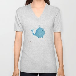 The Enigmatic Pudding Whale Unisex V-Neck