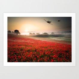 Poppy Spitfire Art Print
